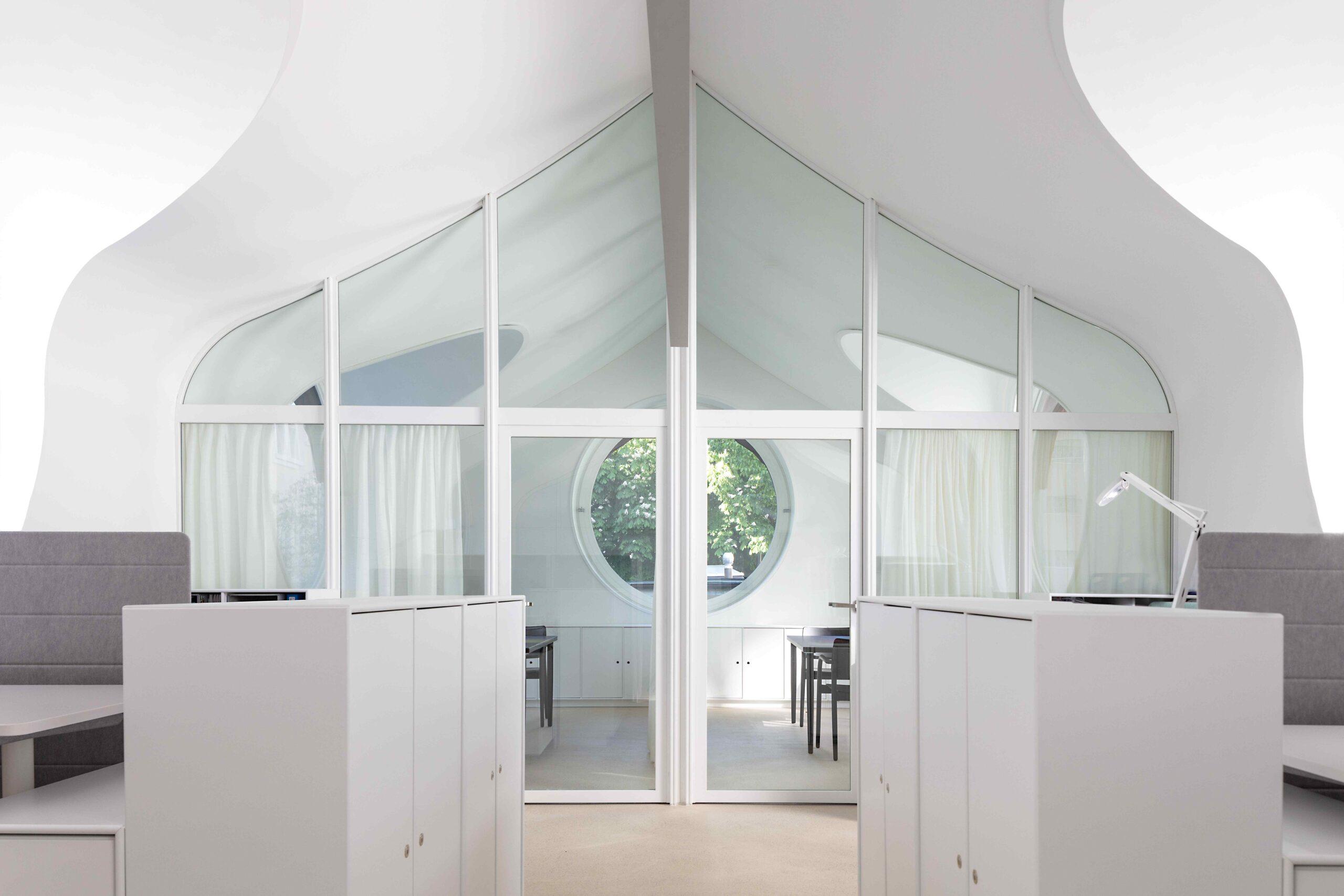 Innenraum Glas Stahltüre